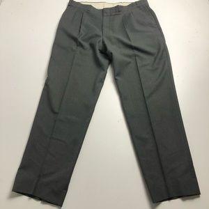 London Fog Wool Dress Pants Mens Gray